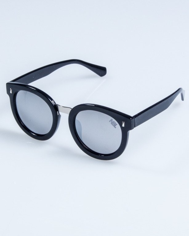 OKULARY LADY XXX BLACK FLASH GREY MIRROR 695
