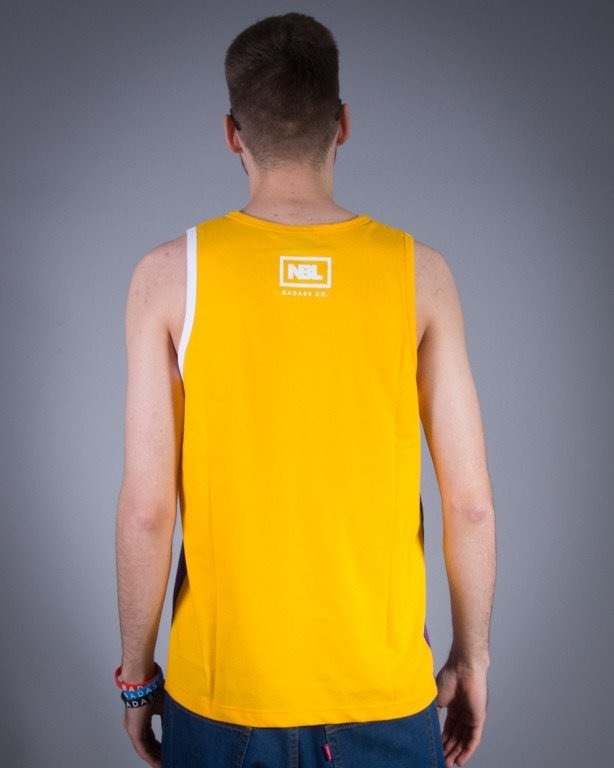NEW BAD LINE TANK TOP CLASSIC VIOLET-YELLOW