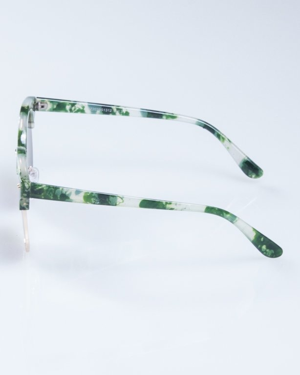 OKULARY LADY WILD SPOT GREEN GREEN MIRROR 944