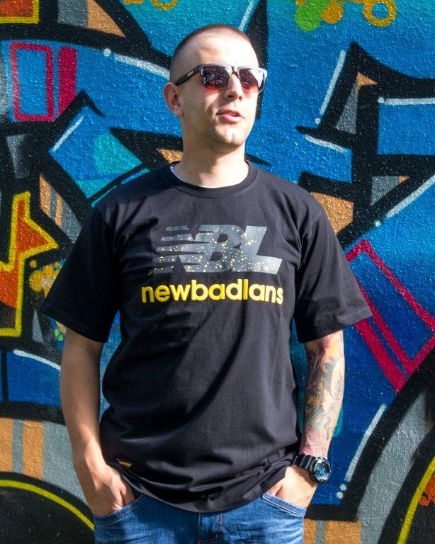 T-SHIRT NEWBADLANS BLACK