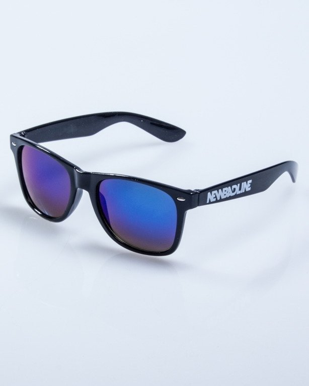 OKULARY CLASSIC BLACK FLASH BLUE MIRROR 564