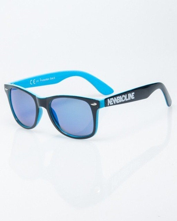 OKULARY CLASSIC INSIDE BLACK-BLUE FLASH BLUE MIRROR 1191