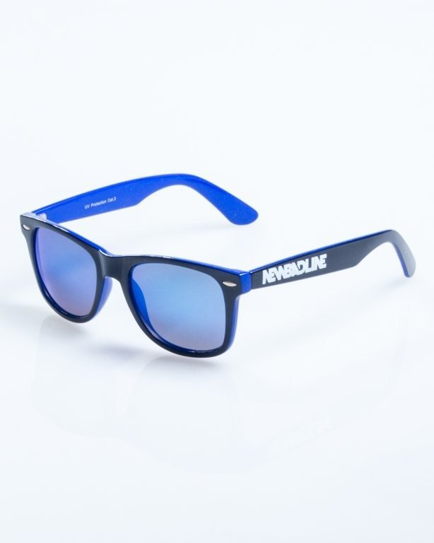 OKULARY CLASSIC INSIDE BLACK-BLUE FLASH BLUE MIRROR 823
