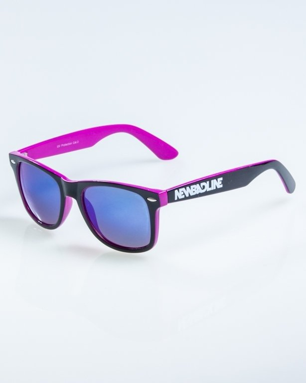 OKULARY CLASSIC INSIDE BLACK-VIOLET FLASH BLUE MIRROR 893