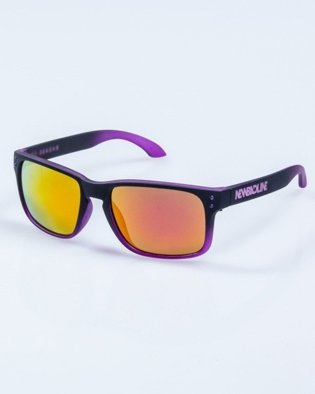OKULARY FREESTYLE BLACK-VIOLET RUBBER PINK MIRROR 655