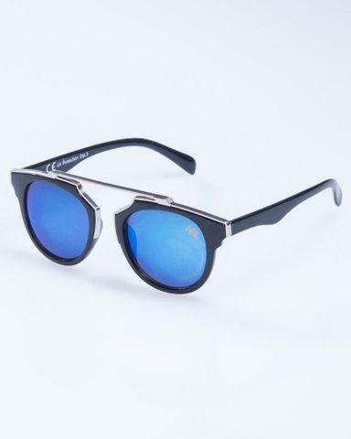 OKULARY LADY ROSH BLACK-SILVER BLUE MIRROR 927