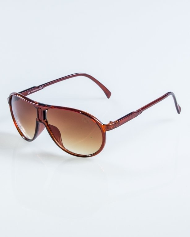 OKULARY ROUND BROWN BROWN 914