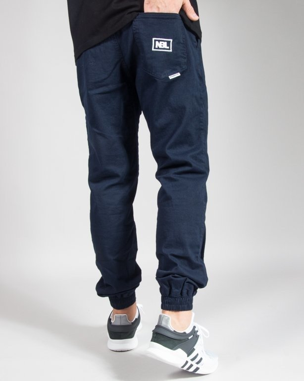 SPODNIE CHINO JOGGER ICON NAVY
