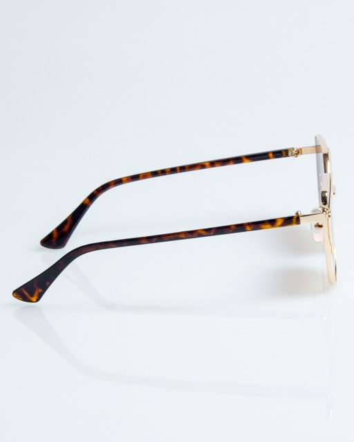 New bad line okulary queen lady gold pantera metal brown for 1083 3