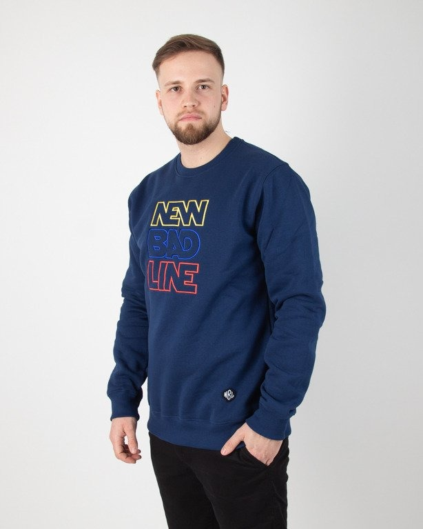 BLUZA BEZ KAPTURA OUTLINE NAVY