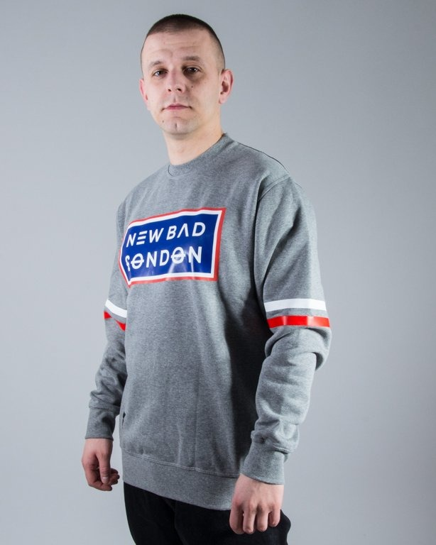 BLUZA CREWNECK LONDON GREY