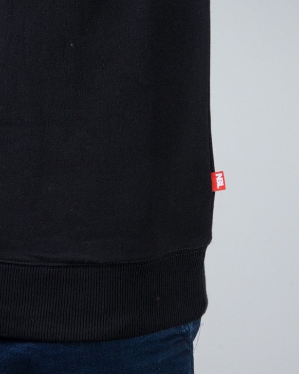 BLUZA CREWNECK SPRAY BLACK