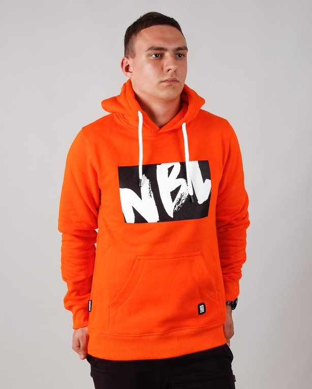BLUZA Z KAPTUREM DRAW ORANGE