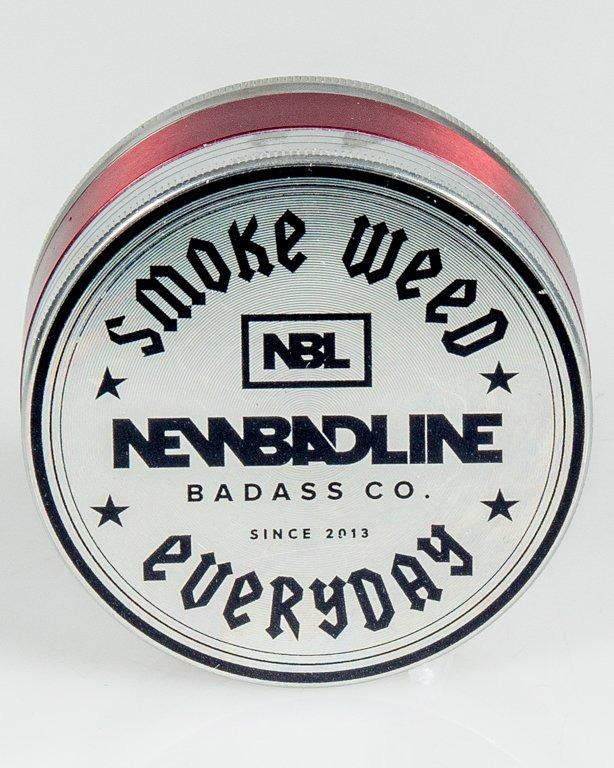 MŁYNEK METALOWY SMOKE BIG SILVER-RED