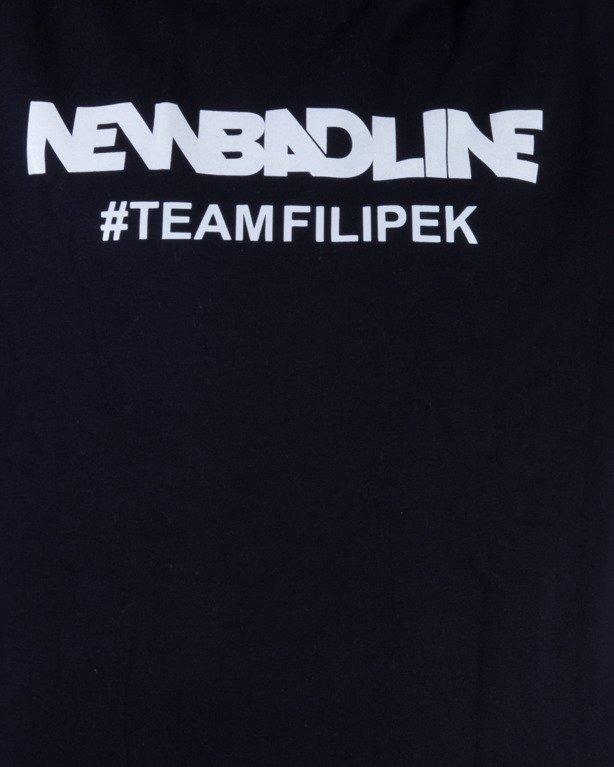 NEW BAD LINE BLUZA BEZ KAPTURA #TEAMFILIPEK BLACK