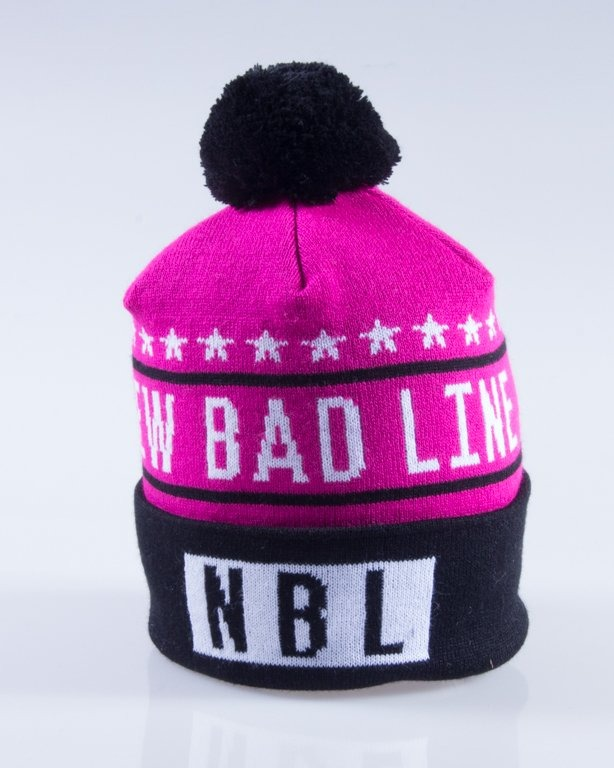 NEW BAD LINE CZAPKA ZIMOWA SWAG PINK-BLACK