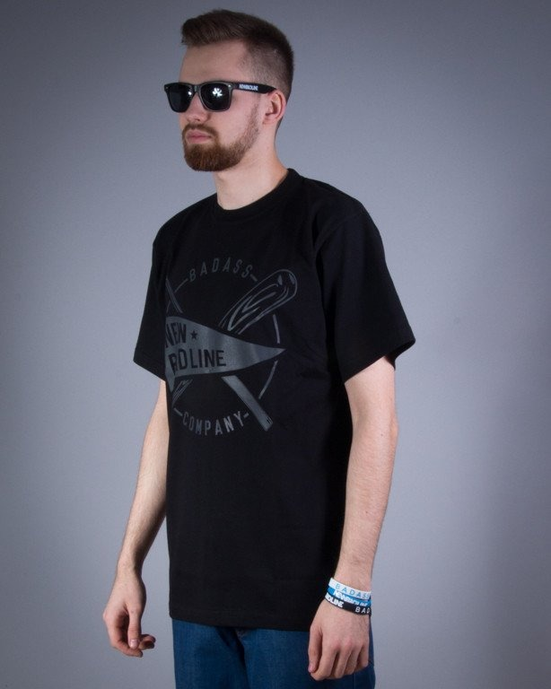 NEW BAD LINE KOSZULKA BASEBALL BLACK ON BLACK