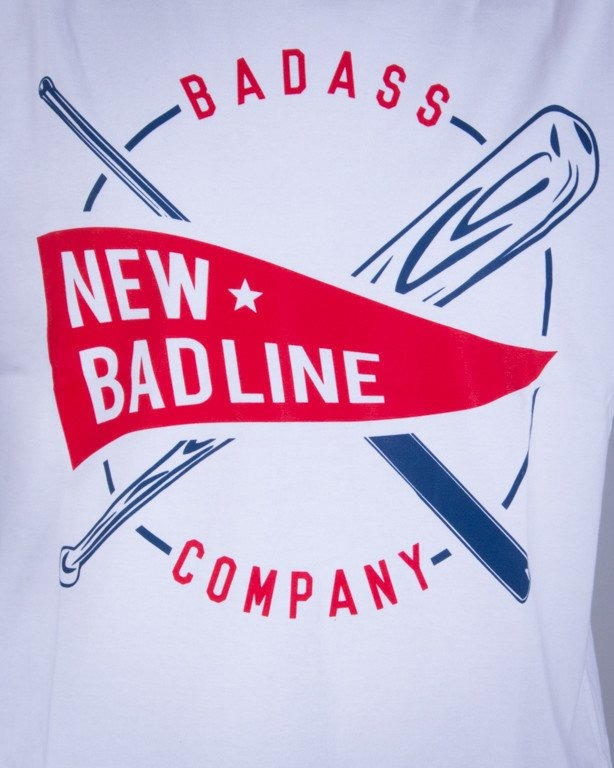 NEW BAD LINE KOSZULKA BASEBALL WHITE-COLOR
