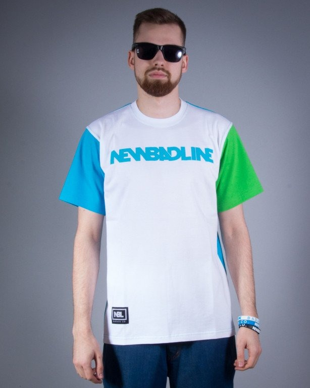 NEW BAD LINE KOSZULKA CLASSIC WHITE-BLUE-GREEN