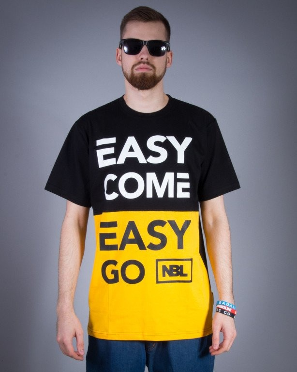 NEW BAD LINE KOSZULKA EASY BLACK-YELLOW