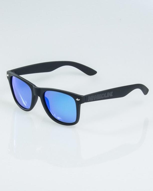 OKUALRY CLASSIC BLACK RUBBER BLUE MIRROR POLARIZED 1161