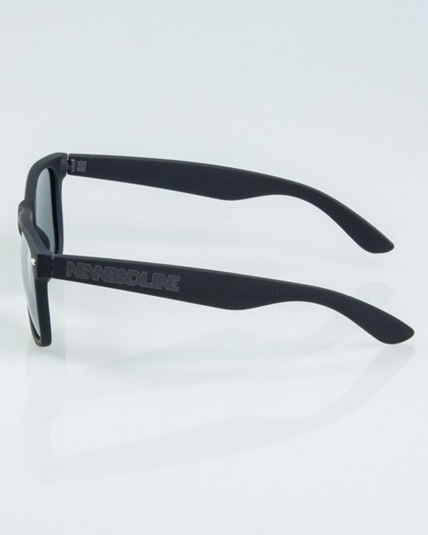 OKUALRY CLASSIC BLACK RUBBER SILVER MIRROR POLARIZED 1162