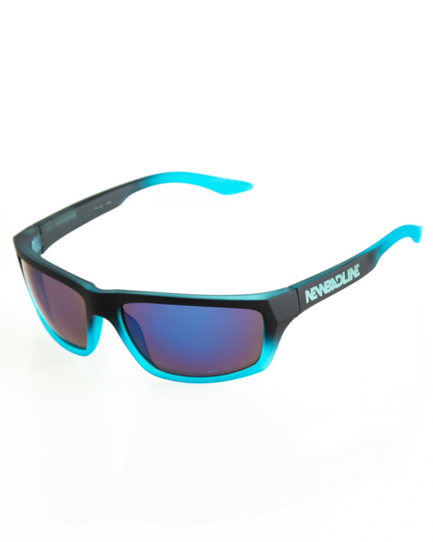 OKULAR BIKER BLACK-BLUE RUBBER BLUE 118