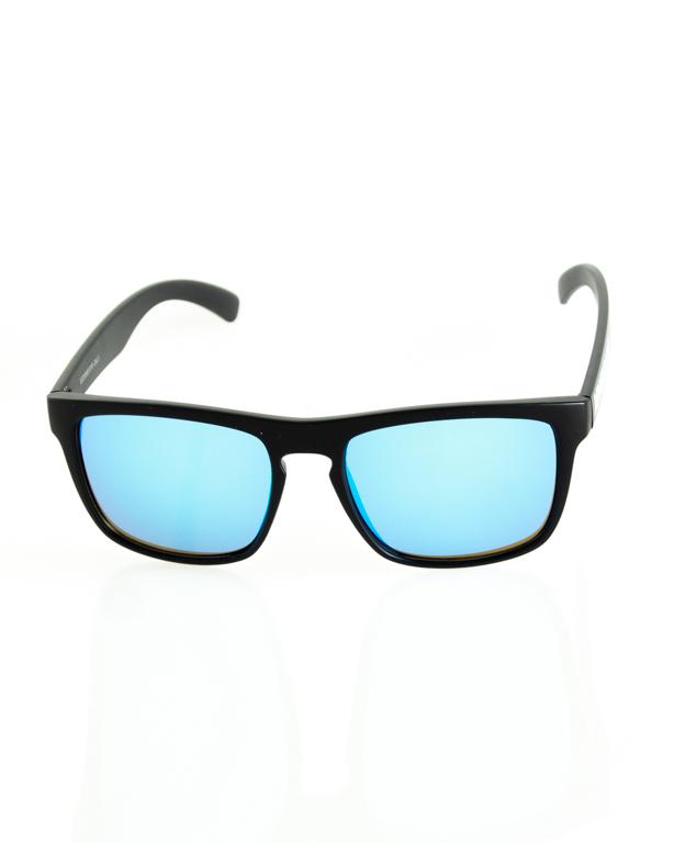 OKULARY AGENT BLACK MAT BLUE MIRROR 203