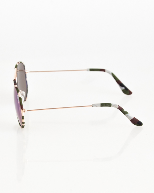 OKULARY AVIATOR CAMO GOLD-MORO GREEN GREEN MIRROR 046