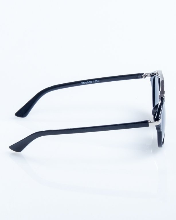 OKULARY BAD BLACK-SILVER BLACK 817