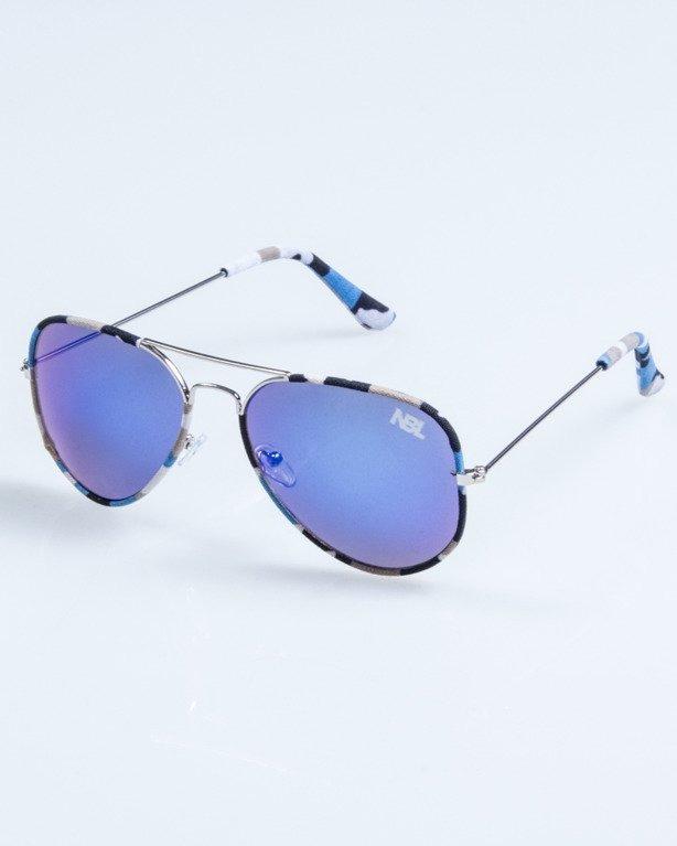OKULARY CAMO METAL SILVER-BLUE BLUE MIRROR 688