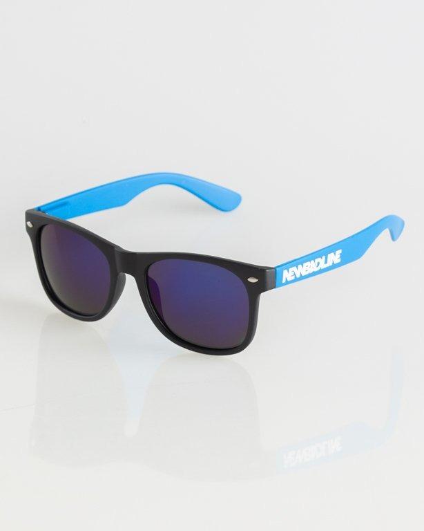 OKULARY CLASSIC BLACK-BLUE MAT BLUE MIRROR 005