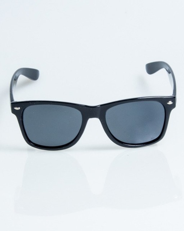 OKULARY CLASSIC BLACK FLASH BLACK POLARIZED 1078