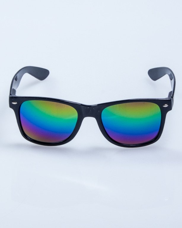 OKULARY CLASSIC BLACK FLASH LSD MIRROR 558