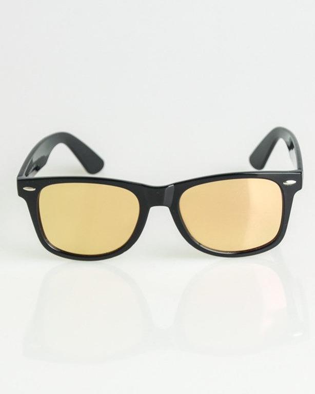 OKULARY CLASSIC BLACK FLASH YELLOW-PINK MIRROR 1354