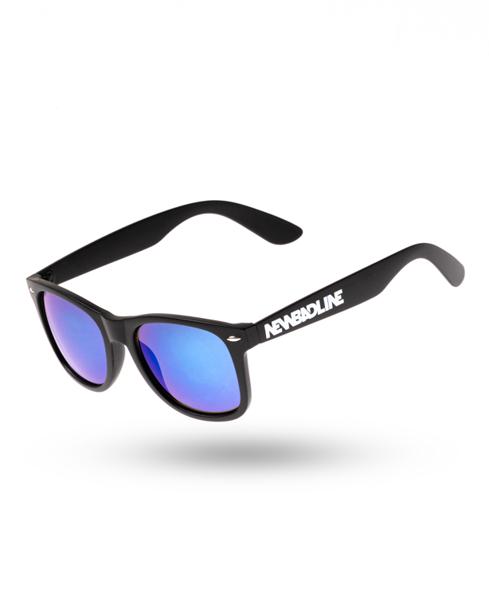 OKULARY CLASSIC BLACK MAT BLUE MIRROR 00-125