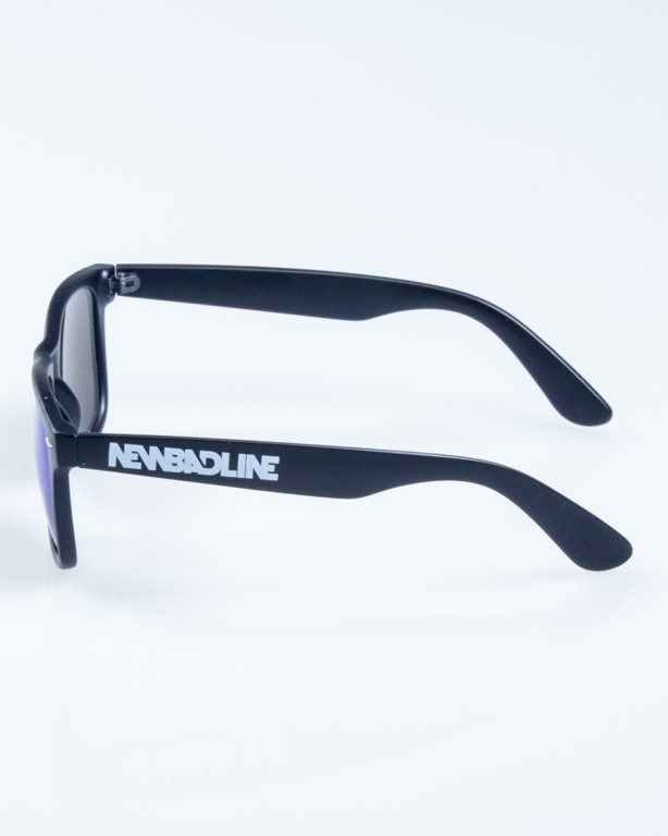 OKULARY CLASSIC BLACK MAT ONLY BLUE MIRROR 828