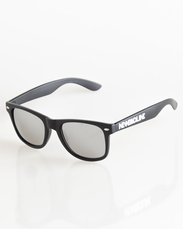 OKULARY CLASSIC BLACK MAT SILVER MIRROR 033