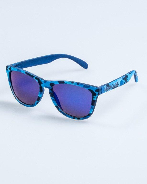 OKULARY CLASSIC CAMO BLUE RUBBER BLUE MIRROR 677