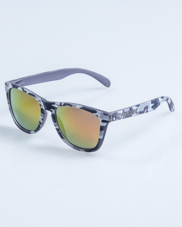 OKULARY CLASSIC CAMO GREY RUBBER RED MIRROR 680