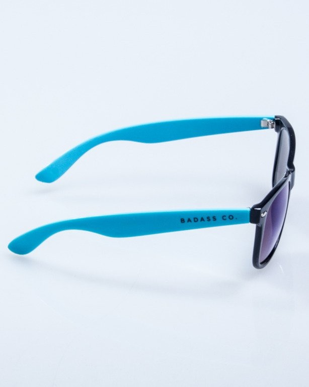 OKULARY CLASSIC HALF BLACK-BLUE FLASH BLACK 641