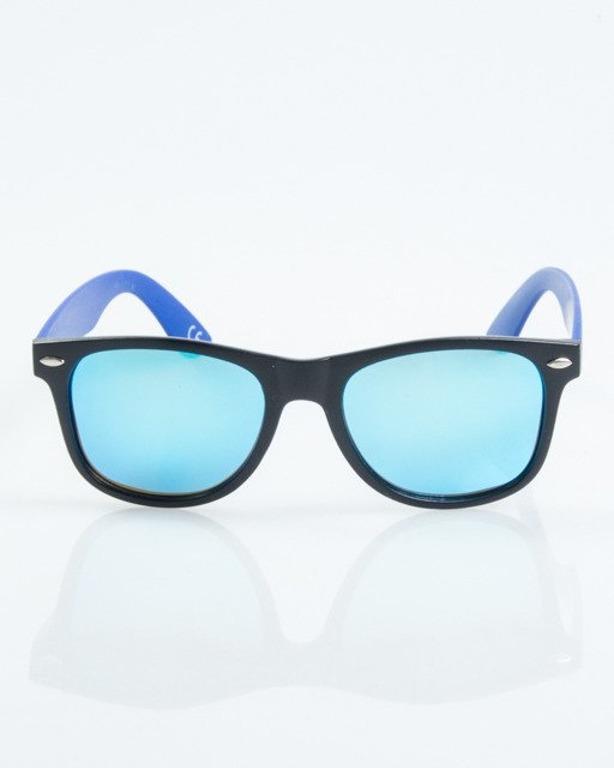 OKULARY CLASSIC HALF BLACK-BLUE MAT BLUE MIRROR POLARIZED 1024