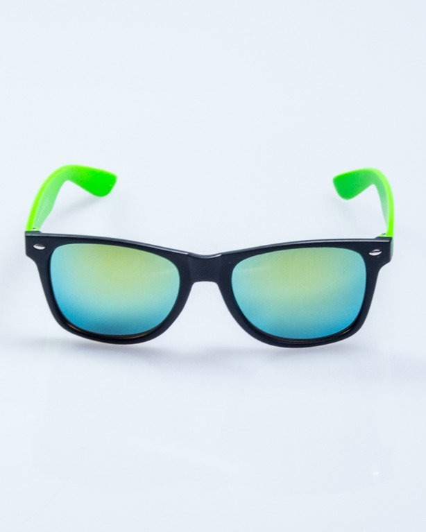 OKULARY CLASSIC HALF BLACK-GREEN MAT YELLOW MIRROR 510