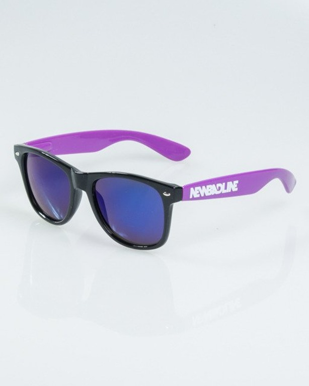 OKULARY CLASSIC HALF BLACK-VIOLET FLASH BLUE MIRROR 1165