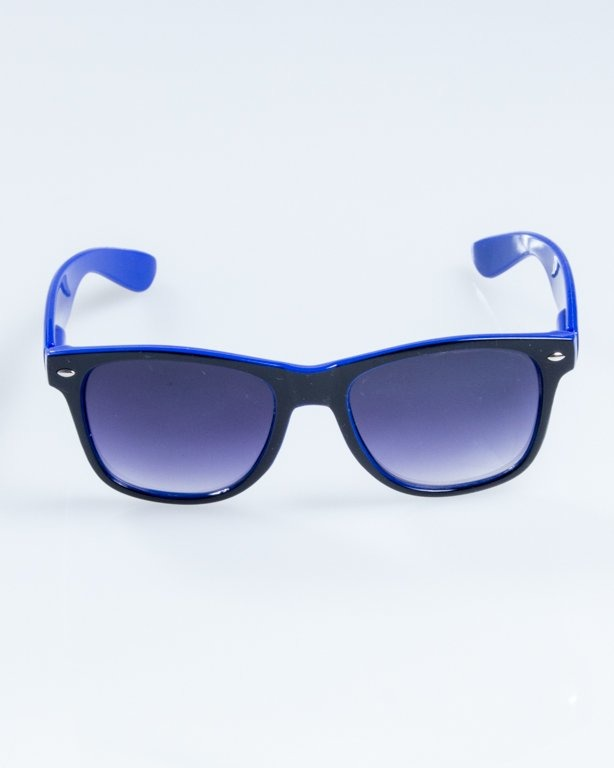 OKULARY CLASSIC INSIDE BLACK-BLUE FLASH BLACK BLACK HALF 847