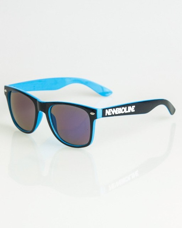 OKULARY CLASSIC INSIDE BLACK-BLUE FLASH BLUE MIRROR 1370