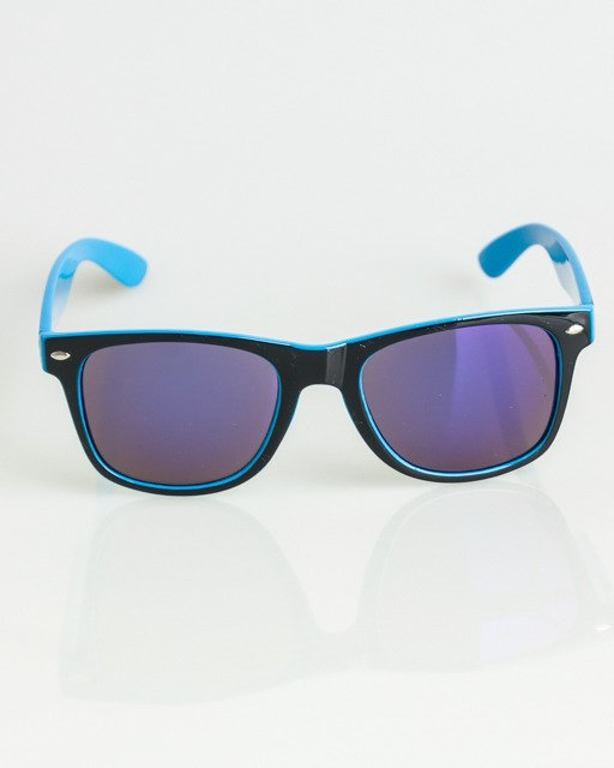 OKULARY CLASSIC INSIDE BLACK-BLUE FLASH BLUE MIRROR 1370