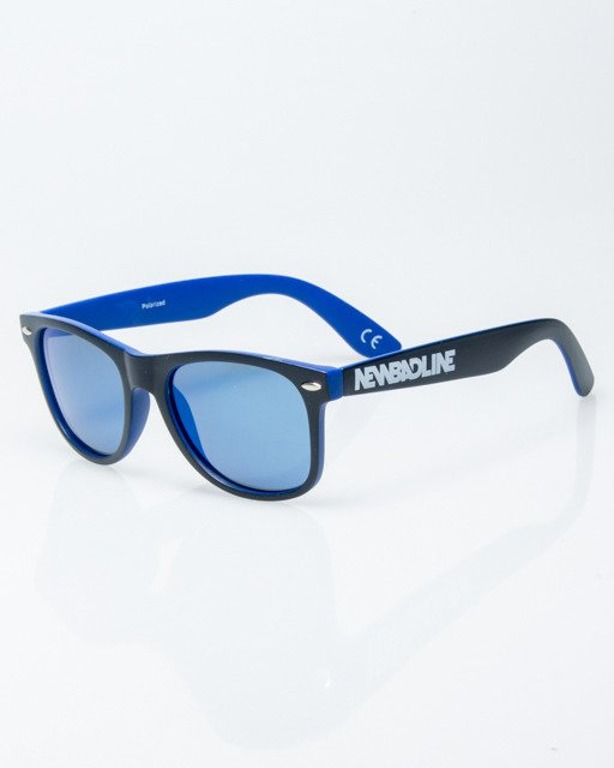 OKULARY CLASSIC INSIDE BLACK-BLUE MAT BLUE MIRROR POLARIZED 1186