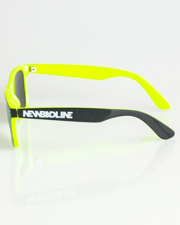 OKULARY CLASSIC INSIDE BLACK-NEON YELLOW FLASH YELLOW MIRROR 1382