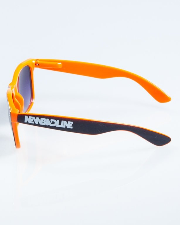 OKULARY CLASSIC INSIDE BLACK-ORANGE FLASH BLACK HALF 849